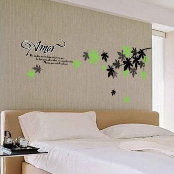【半島良品】DIY無痕創意牆貼/壁貼-楓葉 AY718中