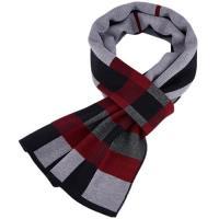 【米蘭精品】圍巾針織披肩-經典格子提花羊毛3色73wi15