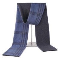 【米蘭精品】圍巾羊毛披肩格紋拼色雙面針織3色73wh24