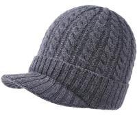 【米蘭精品】毛帽羊毛鴨舌帽-純色麻花針織毛線4色73wj29