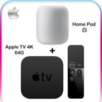【APPLE】 HomePod 智慧音箱 白 + Apple TV 4K 64G 影音組