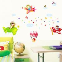 【半島良品】DIY無痕創意牆貼/壁貼-飛機熱氣球 AY1908大