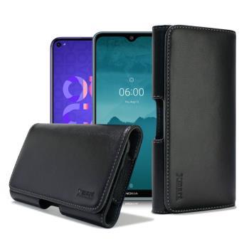 Xmart for HUAWEI Nova 5T/Nokia 7.2 型男羊皮橫式腰掛皮套