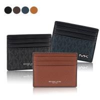 MICHAEL KORS 銀LOGO 皮革/PVC 6卡名片/卡片夾 (任選)