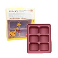 【韓國BABAY JOY】鉑金矽膠副食品製冰盒6格-藕紫