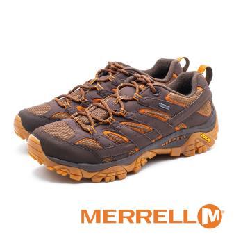 MERRELL(男) Moab 2 Mid GORE -TEX 防水登山鞋 男鞋-橘棕色
