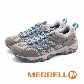 MERRELL(女) Moab 2 Mid GORE -TEX 防水登山鞋 女鞋-灰藍