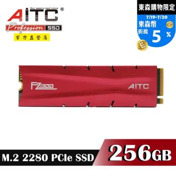 【AITC】FZ300 SSD 256GB M.2 2280 PCIe NVMe 固態硬碟+散熱片
