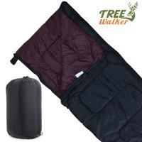 TreeWalker 可拼接式保暖信封睡袋(涼爽內層)-黑