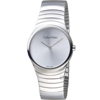 Calvin Klein 極簡石英錶(K8A23146)銀/33mm