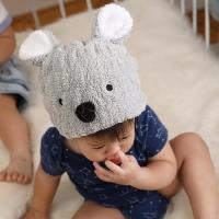 【MORINO摩力諾】超細纖維動物造型速乾兒童浴帽(無尾熊)