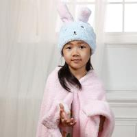 【MORINO摩力諾】超細纖維動物造型速乾兒童浴帽(兔子)