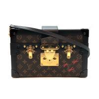 【LOUIS VUITTON】展示品 PETITE MALLE  行李箱造型斜背包(M44199-咖)