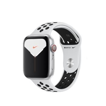 Apple Watch 5 GPS+LTE 44mm Nike +銀鋁/白運動 MX3E2TA/A