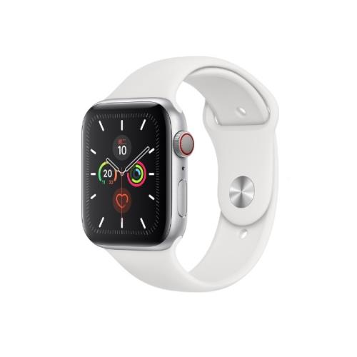 Apple Watch 5 GPS+LTE Sport 44mm 銀鋁/白運動 MWWC2TA/A