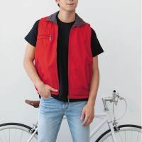 【LEIDOOE】中性款雙面穿背心(22053)紅/灰