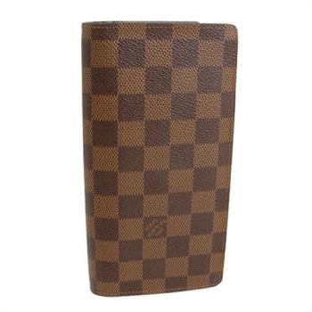 LV  棋盤格紋直式12張卡長夾(歐洲直送)