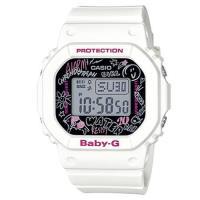 【CASIO】BABY-G 個性西岸街頭塗鴉電子錶-白 (BGD-560SK-7)