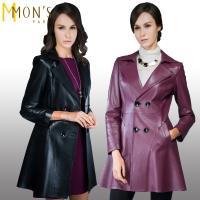 MONS經典義大利Nappa 100%羊皮風衣款大衣