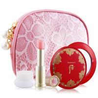 Whoo后 皇后之吻潤色護唇膏禮盒組-國際航空版-贈水凝霜+粉漾蕾絲化妝包