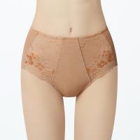【曼黛瑪璉】V極線高腰修飾內褲(杏桃橘)