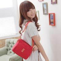 DF Queenin流行 - 日系甜美輕盈防潑水斜背包-小-共6色