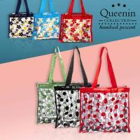 DF Queenin日韓 - 透明果凍花朵手提拉鏈小方包-共2款
