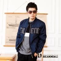 【Dreamming】帥氣網布拼接防風飛行夾克外套(共二色)