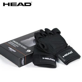 HEAD海德 透氣式健身手套 超透氣 止滑耐磨 手掌完全包覆 運動輔具護腕帶 助力帶