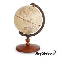SkyGlobe 5吋古典仿古木質底座地球儀(中文版)