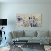 【山德力】現代幾何質感地毯 -卡尼藍 160X230CM(三角形 大尺寸 現代 氣派 經典 客廳 起居室 書房)