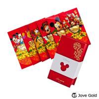 內贈一元美金x6🔥Disney迪士尼系列金飾 黃金元寶紅包禮盒