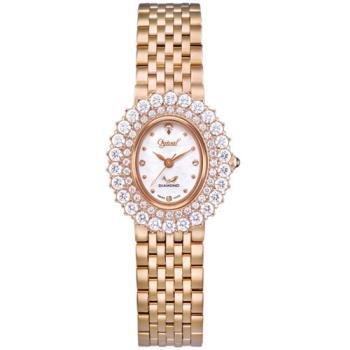 Ogvial 瑞士愛其華-薔薇系列璀璨時尚真鑽腕錶-玫瑰金 380-02DLR