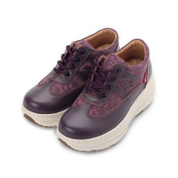 ZOBR 真皮蕾絲厚底休閒鞋 紫 Q729 女鞋 鞋全家福
