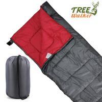 TreeWalker 可拼接式保暖信封睡袋(菱紋表布)-鐵灰