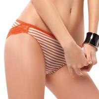 【EASY SHOP】就是要善變 低腰三角褲(條紋橙)