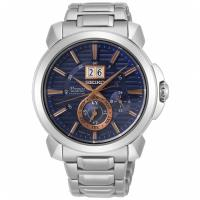 SEIKO 精工 Premier 人動電能大視窗萬年曆腕錶/ 藍x金/ 43mm (7D56-0AH0B/ SNP163J1)