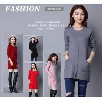 A3造型口袋羊毛長版上衣-(粉色 / 紅色/黑色/灰色)預購