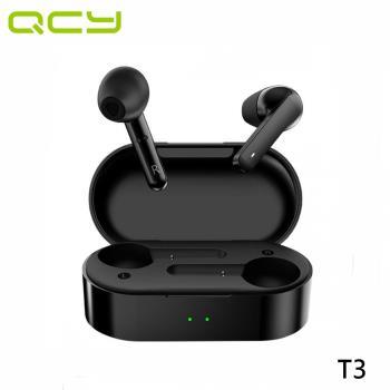 QCY T3 半入耳式真無線藍牙耳機 黑色款