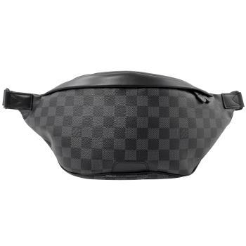 Louis Vuitton LV N40187 Discovery 黑灰棋盤格紋腰包/胸口包 現貨