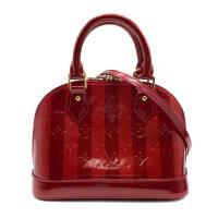 【Louis Vuitton】展示品 漆皮壓紋雙色 Alma BB手提斜背兩用包(M91593-紅)