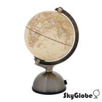 SkyGlobe 5吋古典仿古金屬底座地球儀(附燈/中文版)