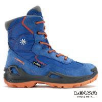 【LOWA】女 中筒保暖雪靴 藍/橘 LUCA GTX® MID(LW420544)