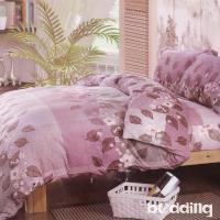 BEDDING-法蘭絨床包鋪棉款-加大雙人床包被套四件組-潘多拉-粉