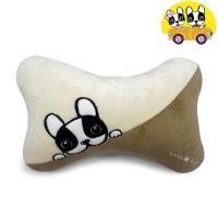 安伯特 法鬥犬骨頭枕 頸枕 卡通抱枕 車用抱枕 沙發抱枕 辦公室靠枕 沙發靠枕 透氣 排濕 可拆洗