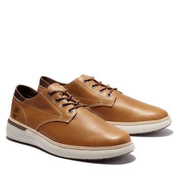 Timberland 男款褐色Cross Mark休閒牛津鞋A2E8GF13