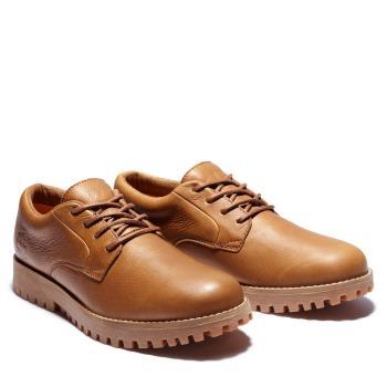 Timberland 男款褐色Jacksons Landing皮革牛津鞋A2A25F13