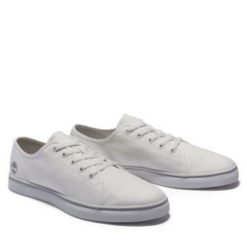 Timberland 男款白色Skape Park帆布休閒鞋A2688L77