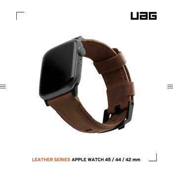UAG Apple Watch 42/44mm 皮革錶帶-棕