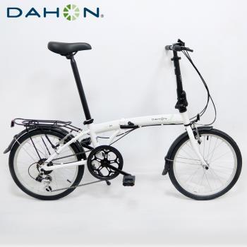 DAHON大行 SUV D6 20吋6速鋁合金折疊單車-白